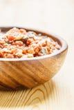 油炸物用肉、圆白菜和红萝卜 免版税图库摄影