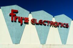 油炸物的电子商店外部 免版税图库摄影