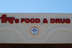 油炸物的食物&药物超级市场 免版税库存照片