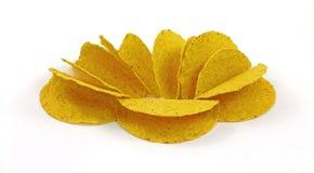 油炸马铃薯片轰击炸玉米饼 库存图片