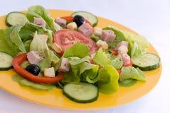 油煎方型小面包片新鲜的火腿lettu沙拉 库存图片