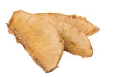 油煎查出的面包树果 库存图片