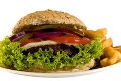 油煎汉堡包 图库摄影