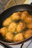 油煎煎蛋卷的鸡蛋 库存照片