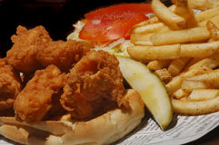 油煎的三明治虾 免版税库存图片