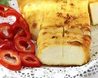 油煎的乳酪用香料 免版税库存照片