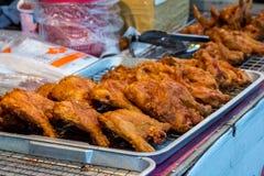 油煎的可口热的鸡 库存图片