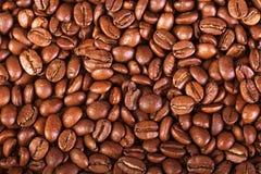 从油煎的咖啡粒的背景 免版税图库摄影