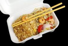 油煎的国王大虾米蔬菜 免版税库存图片