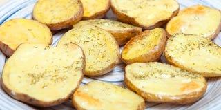 油煎的土豆 库存图片