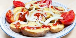 油煎的土豆 免版税图库摄影
