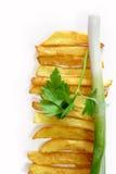 油煎的土豆 库存照片