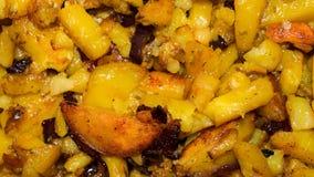 油煎的土豆 免版税库存图片