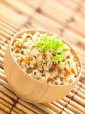 油煎的大蒜米 图库摄影