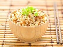油煎的大蒜米 免版税库存照片