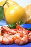 油煎的大虾海鲜 库存图片