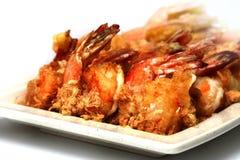 油煎的大虾 库存图片