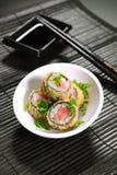 油煎的寿司双打 免版税图库摄影