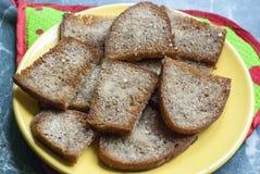 油煎的小大面包 免版税图库摄影