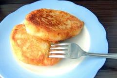 油煎的新鲜的鲜美肉馅饼 库存照片