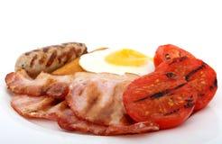 油煎的早餐英国食物新鲜 免版税库存照片