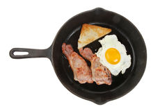 油煎的早餐 库存照片