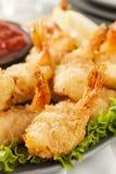 油煎的有机椰子虾 免版税库存图片