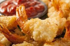 油煎的有机椰子虾 免版税图库摄影