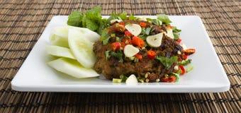 油煎的泰国食物辣 免版税库存图片