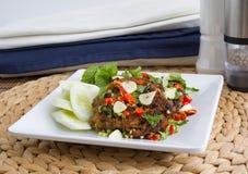 油煎的泰国食物辣 库存图片