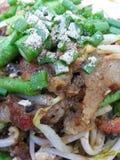油煎的淡菜用豆芽, 免版税库存照片