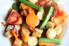 油煎的混杂的混乱蔬菜 免版税库存照片