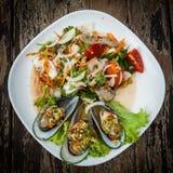 油煎的牡蛎 图库摄影