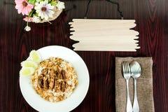 油煎的猪肉米 免版税库存照片