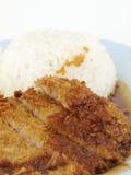 油煎的猪肉米 库存图片
