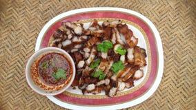 油煎的猪肉调味汁 免版税图库摄影