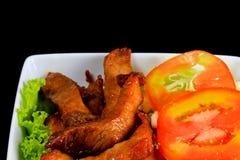 油煎的猪肉 免版税库存照片
