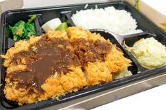 油煎的猪肉tonkatsu 库存照片