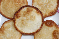 油煎的白薯蛋糕 库存照片