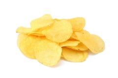 油煎的盐味的土豆片 免版税库存图片