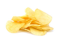 油煎的盐味的土豆片 库存图片