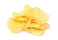 油煎的盐味的土豆片 库存照片