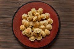 油煎的肉饺子 图库摄影