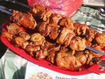 油煎的肉 免版税库存图片