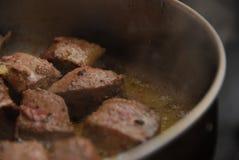 油煎的肉 免版税图库摄影