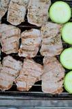 油煎的肉 库存图片