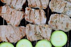 油煎的肉 免版税库存照片