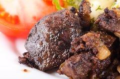 油煎的肝脏猪肉 免版税库存照片