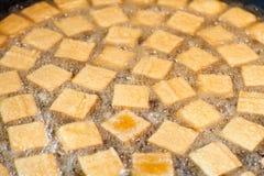 油煎的腐败的豆腐 免版税库存照片