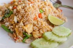 油煎的菜单米泰国豆腐蔬菜 免版税库存图片